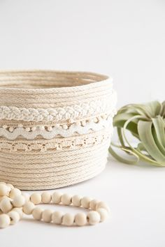 DIY Rope Planter Bas