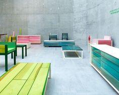 Muebles de madera y resinas   IRO de Jo Nagasaka