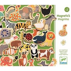 Magnimo magnetic game Djeco Children- A large selection of Toys and Hobbies on Smallable, the Family Concept Store - More than 600 brands. Wooden Ride On Toys, Magnet Drawing, Recycled Toys, Eco Kids, Eco Friendly Toys, Dinosaur Toys, Wooden Animals, Imaginative Play, Baby Play