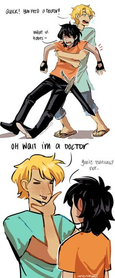 Anonymous asked: Can you please draw some cuddling Solangelo? Or something with Will being all doctor-ish towards Nico? :) cookiecreation: cuddling…yes…