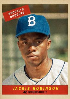 """Vintage Baseball Card Creator (brought to you by """"42: The True Story of an American Legend"""" in theaters April 12, 2013)."""