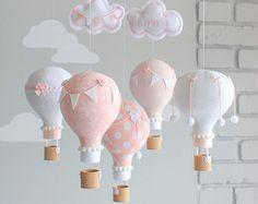 Aire caliente globo móvil de bebé decoración por sunshineandvodka