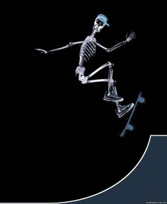 Picture of a Human Skeleton Skating in Curve Stage X-ray  Read more: http://www.affordablecebu.com/load/adobe_photoshop/incredible_human_x_ray_pictures/17-1-0-626#ixzz3b0FffppH