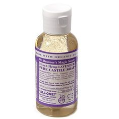 Travel-sized Dr. Bronners.... for everything from shaving 'gel' to facewash to mouthwash, toothpaste, hair shampoo, hand soap, detergent for my gogirl... cooling muscle rub-- what's not to love?