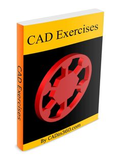 CAD Exercises by [Jha, Sachidanand] Autocad 2016, Learn Autocad, Autodesk Software, Cad Software, Mechanical Engineering Design, Mechanical Design, Ing Civil, Electrical Engineering Books, Cad Computer
