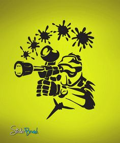 Vinyl Wall Decal Sticker Paintball Splat #659 | Stickerbrand wall art decals, wall graphics and wall murals.