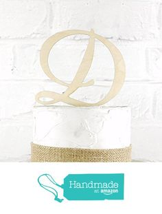 5 Inch Rustic Wedding Cake Topper Monogram Personalized in Any Letter A B C D E F G H I J K L M N O P Q R S T U V W X Y Z from Cake Topper Monograms http://www.amazon.com/dp/B016O432J6/ref=hnd_sw_r_pi_dp_VRl4wb1J6K5YH #handmadeatamazon