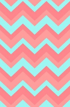 Blue and pink chevron wallpaper