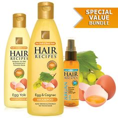 Egg & Cognac Shampoo - Egg Hair Care | Hair-Recipes