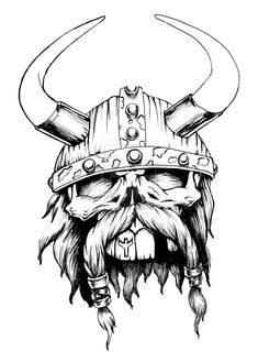 Viking | Viking Skull by biomek on deviantART