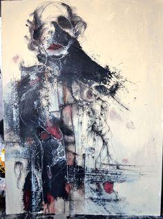 eric lacombe - P096  Pen / Posca / Ink / Acrylic / Paper  56 x 42 cm