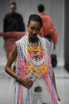 Blandine Bardeau's plastic jewellery collection Fashion Illustration Collage, Couple Jewelry, Fashion Details, Fashion Design, Body Adornment, Textile Jewelry, Neck Piece, Textiles, Contemporary Jewellery
