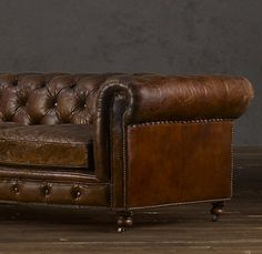 Kensington Leather Sofa from Restoration Hardware
