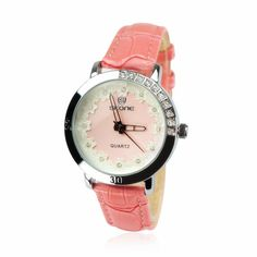Pink Lace Ladies Watch