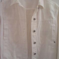 White Denim Jean Jacket Women's Size Small 💌 OBO White Denim Jean Jacket Jackets & Coats Jean Jackets