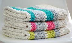 Modern Crochet Baby Blanket Organic Cotton by FoxAndRebel on Etsy