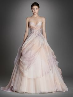 30 Head-Over-Heels Romantic Watercolor Wedding Gowns!