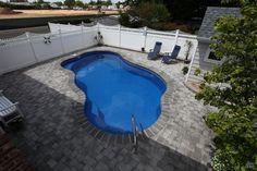 Fiberglass Inground Swimming Pool by Backyard Masters  --  Long Island, NY