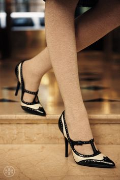 Black and white Mary Jane spectators Tory Burch Fall 2012