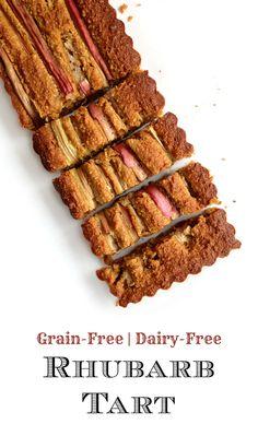 Grain-Free Rhubarb Tart | GrokGrub.com