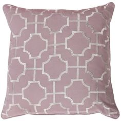 Purple Tonianne Geometric Embroidered Pillow ($35) ❤ liked on Polyvore featuring home, home decor, throw pillows, purple home decor, purple toss pillows, geometric home decor, purple throw pillows and geometric throw pillows