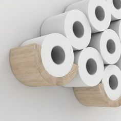 Create a decorative expression with the storage of toilet paper. A smart way to store your toilet paper. Bathroom Toilet Paper Holders, Toilet Paper Storage, Toilet Paper Roll Crafts, Plywood Furniture, Art Furniture, Furniture Design, Toilet Decoration, Frameless Shower Doors, Bathroom Toilets