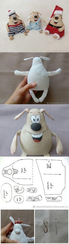 Шьем веселую собачку — символ Нового года - Ярмарка Мастеров - ручная работа, handmade