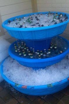 Outdoor fountains for your BBQ or Tailgate party.