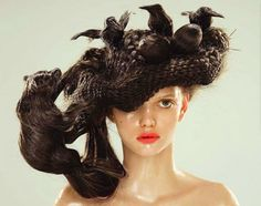 Crazy hair stylesCrazy hair Crazy But Fun Hairstyles You Won't Believe Are Of The Best Crazy Hair Day 'Dos Ever Bird Nest Hair, Wacky Hair, Crazy Hair Days, Hair Romance, Hot Hair Styles, Short Hair With Layers, Beautiful Long Hair, Great Hair, Hair Humor
