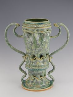 Clark House pottery | Bill & Pam Clark | George Ohr Inspired Art Pottery | #CAPCA