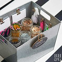 You don't need matching baskets to manage your clutter. Professional organizer Fay Wolf shows us a better way.