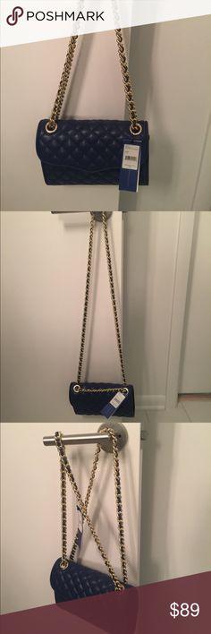 Rebecca Minkoff Navy + Gold Quilted Affair handbag Rebecca Minkoff Navy + Gold Leather Quilted Affair handbag Rebecca Minkoff Bags Shoulder Bags