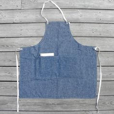 Apron No. 2 in Chambray by smallbatchproduction on Etsy