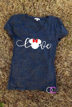 Love Disney Shirt, Family Disney Shirts, Mickey Minnie Shirts, Mickey T-shirt, Minnie T-Shirt, Family Shirts by 1OneCraftyMomma on Etsy https://www.etsy.com/listing/492455624/love-disney-shirt-family-disney-shirts