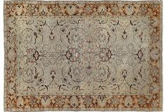 "Sivas carpets are among the most classically designed rugs with Persian influence. This outstanding finely woven Sivas displays the same great design and color execution of the 19th-century master weaver Haj-Jalili; 3'10"" x 5'5"". OKL price: $2,795.00."