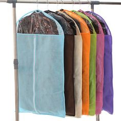 Dust bag thickened woven suits coats dust storage transparent suitcase clothing dust cover pouch cover clothes #Affiliate