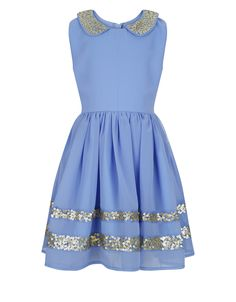 Ahanna Dress | Blue | Monsoon