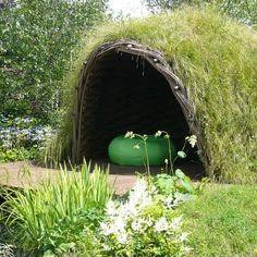 willow garden retreat overlooking pond