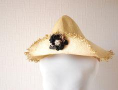 BEIGE sun hat  Mid brim hat  Summer hat  Spring hat  by LALcouture