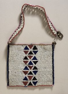South Africa | Love Letter Necklace from the Zulu people | Glass beads, vegetal fiber, metal buttons | ca. early 20th century
