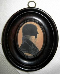 Antique 19th C. Hand-Painted Detailed Silhouette of a Gentlemen - by R. Browne