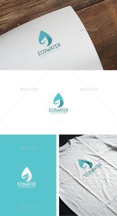 Eco Water Drop Logo Design Template Vector #logotype Download it here: http://graphicriver.net/item/eco-water-drop-logo/12950470?s_rank=502?ref=nesto