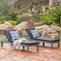 Shop for Puerta Outdoor Adjustable Wicker Chaise Lounge with Cushion (Set of 2) by Christopher Knight Home. Get free shipping at Overstock.com - Your Online Garden