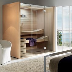 A steam room/sauna in your own bathroom - heaven! Steam rooms sky sauna from C P Hart   (Product zzskysauna)