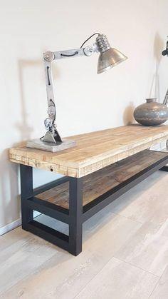 TV-meubel Hout & Staal naar wens samen te stellen - Firma Hout & Staal…