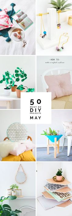 Looking to do something creative? Get your hands on these 50 amazing DIY projects!