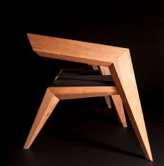 Furniture, Furniture Wooden Chairs Seat Design Lacquer Teak Wood Untreated Right Angle Chairs Art: Marvellous Celebrating Avant-Garde Minimalism: Armchair by Sien Studio Furniture Making, Wood Furniture, Furniture Design, Ikea Chair, Diy Chair, Swivel Chair, Chair Cushions, Chaise Diy, Avantgarde
