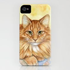 Ginger Cats A085 iPhone Case by S-Schukina - $35.00