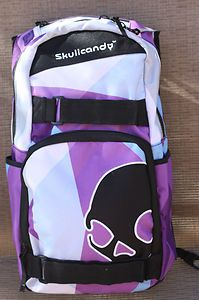 Purple skullcandy backpack
