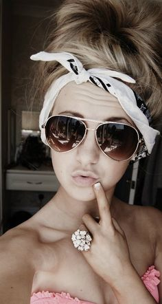 ray bans cheap,ray ban sunglasses on sale,Fake Ray Bans,Fake Ray Bans Online Messy Bun Hairstyles, My Hairstyle, Cute Hairstyles, Hippie Style, Turban, Chloe, Lunette Style, Ray Bans, Tumbrl Girls
